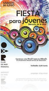 Fiesta para jóvenes -18años CDM Radazul