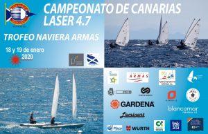 """""""Campeonato de Canarias Laser 4.7"""" ⛵ (Trofeo Naviera Armas)."""