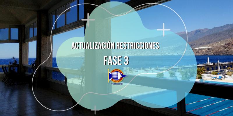 Actualización restricciones durante la Fase 3 | CMRadazul