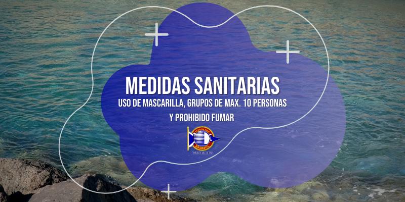 MEDIDAS SANITARIAS – Uso mascarilla y prohibición fumar y aglomeraciones