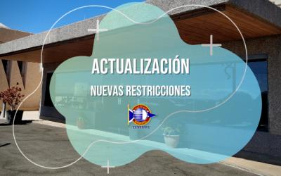 Actualización de las restricciones| CMRadazul